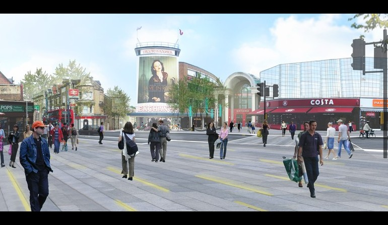 Ilford Station - artists impression of public realm