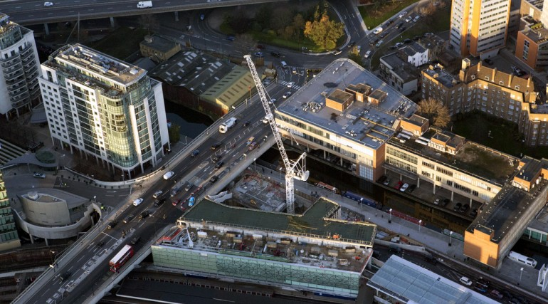 Aerial view of Paddington Integrated Project worksite