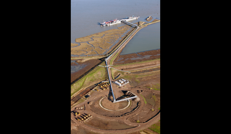 Aerial view of Wallasea Island site, November 2012