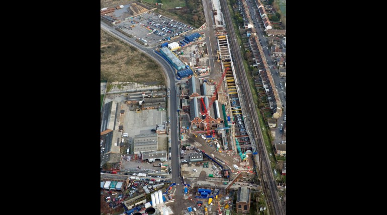 Aerial view of Plumstead Portal site