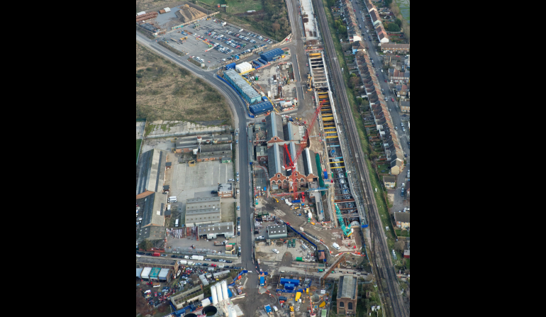 Aerial view of Plumstead Portal