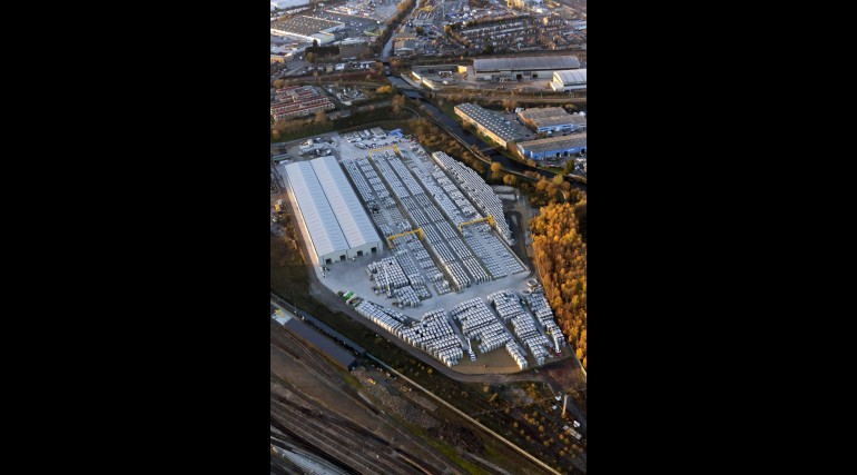 Aerial view of Old Oak Common segment factory