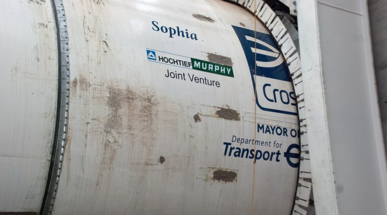 TBM Sophia breaks ground at Plumstead Portal, Jan 2013