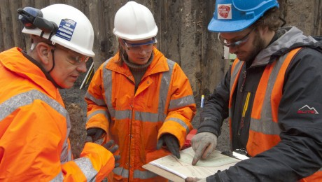 100 year old remains of Thames Ironworks uncovered near Canning Town