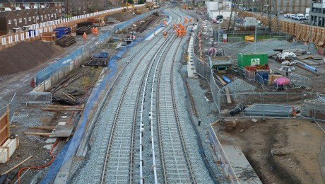 Crossrail Christmas DLR works completed in east London