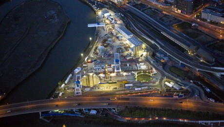 New aerial images give bird�s-eye view of Crossrail as project moves into peak of construction