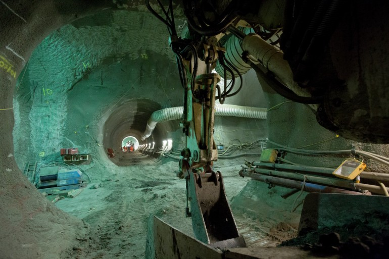 New Crossrail images show 'London tunnelling marathon' underway beneath the capital