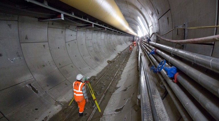 Crossrail western tunnels, December 2012