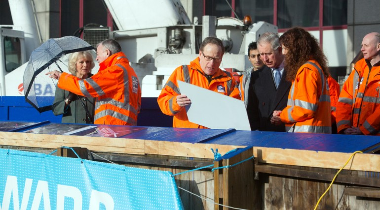 HRH Prince of Wales and Duchess of Cornwall visit Crossrail, January 2013