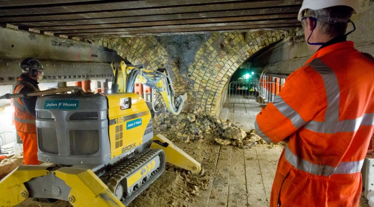 Connaught tunnel refurbishment works