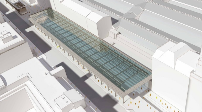 Architect's impression of Paddington station canopy