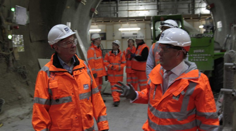 6_John Hayes MP with Sir Terry Morgan at Crossrail Liverpool Street site.JPG_251187