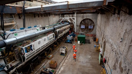 Crossrail tunnelling in southeast London gets underway