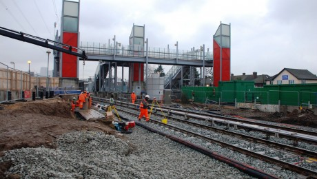 Construction starts on Crossrail tunnel portal at Victoria Dock in east London
