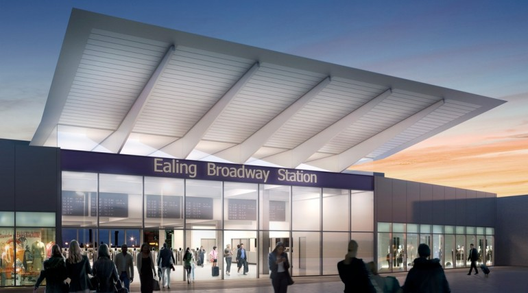 Ealing Broadway Station - architects impression image
