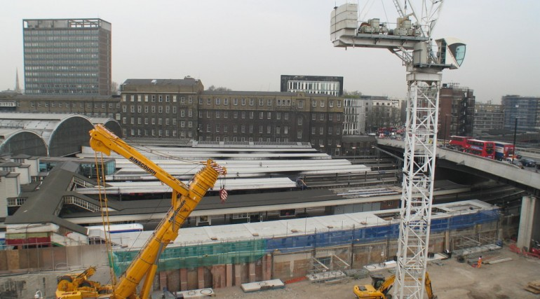 92896_Construction of Paddington taxi rank, March 2011