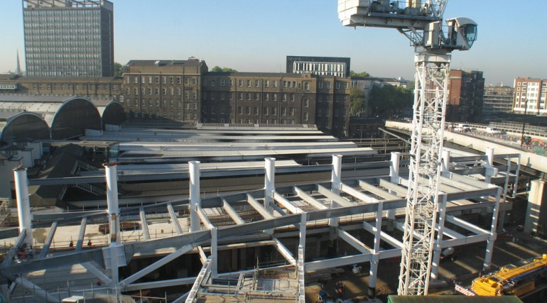 92897_Construction of Paddington taxi rank, September 2011