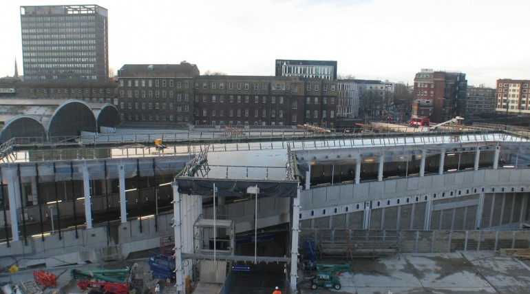 92900_Construction of Paddington taxi rank, December 2012