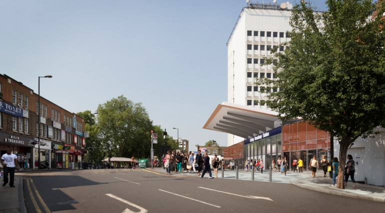 Visualisation of proposed Ealing Broadway Station