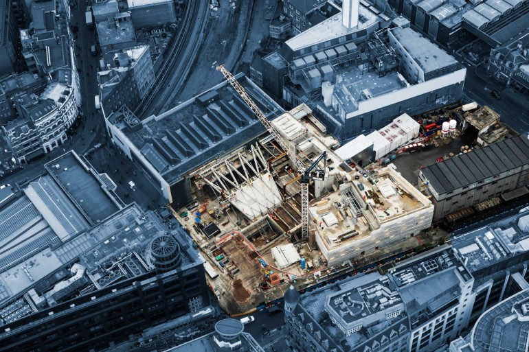 New aerial images show Elizabeth line stations beginning to take shape