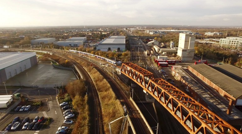 Aerial view of Stockley Flyover_ January 2017_256462
