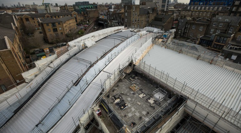 Aerial view of Whitechapel station_300371