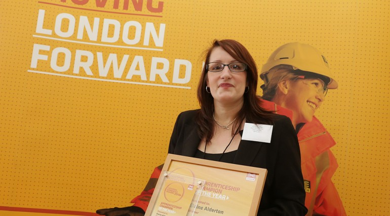 Apprenticeship Champion of the Year - Elaine Alderton_ Farringdon station_127627