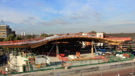 New station at Abbey Wood takes shape