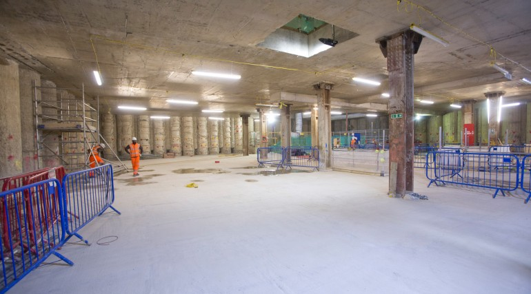 Bond Street Station - western ticket hall on Davies Street is structurally complete_203371