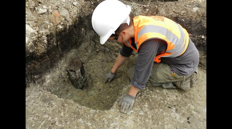 Bronze Age finds uncovered during excavation of Crossrail's Plumstead Portal_55596