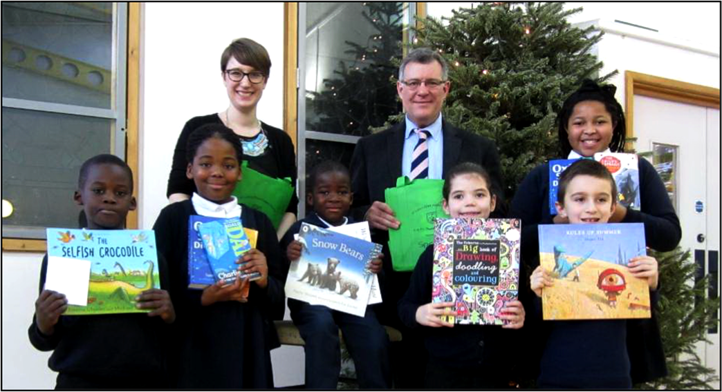 Book Buddies initiative at St Luke's School in Newham