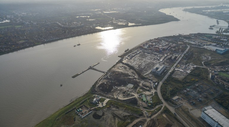 Aerial view of  Docklands Transfer Station_172860