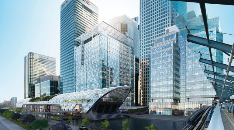 Canary Wharf Crossrail station - architects impression of oversite development_120293