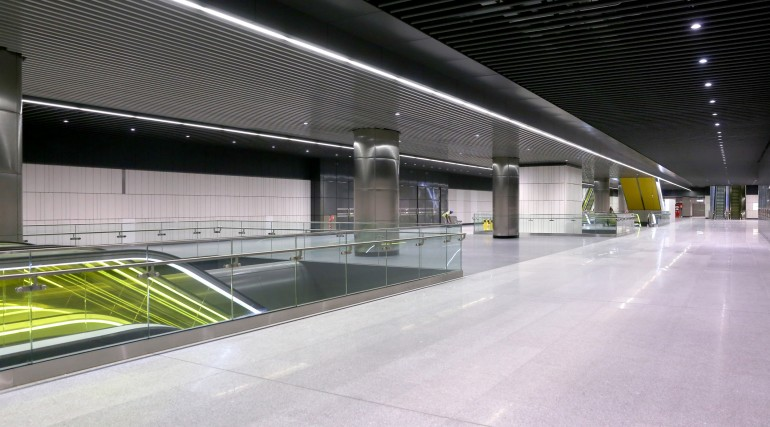 Canary Wharf Crossrail station ticket hall level September 2015_206486