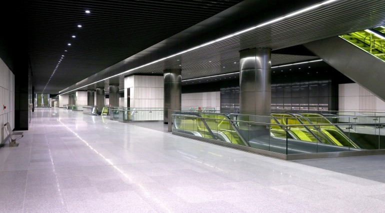 Canary Wharf Crossrail station ticket hall level September 2015_206491