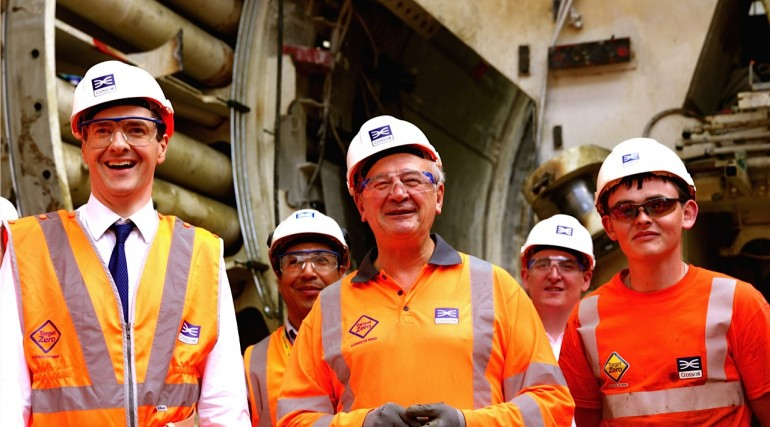 Chancellor unveils Crossrail's new tunnels under the Thames_145603