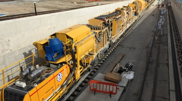Concreting train begins first journey on Crossrail_210221
