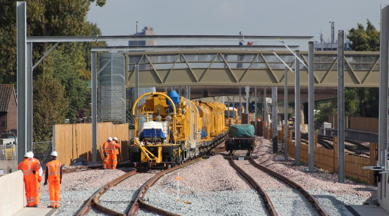 Concreting train begins first journey on Crossrail_210306