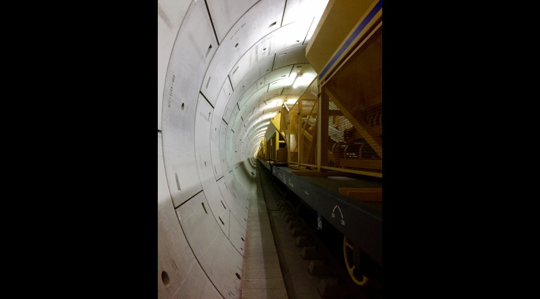 Concreting train in Thames Tunnel_212905