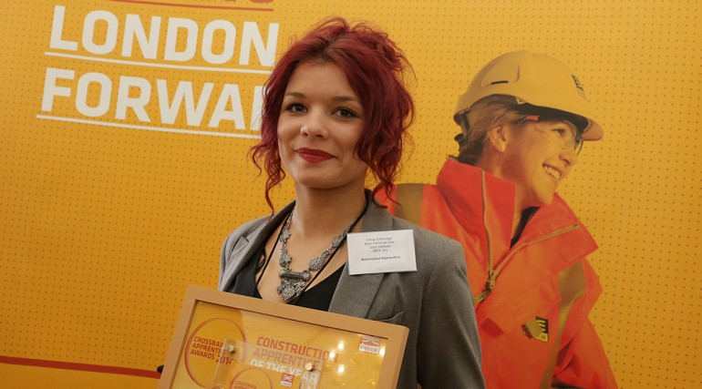 Construction Apprentice of the Year (general) - Chloe Etheridge, Farringdon Station_127626