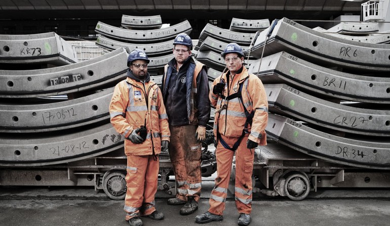 Crossrail western tunnels team - The Westway: A Portrait of a Community by photographer Paul Wenham-