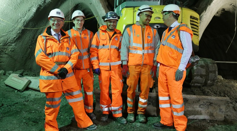 Crossrail apprentices meet Rail Minister Stephen Hammond_127640