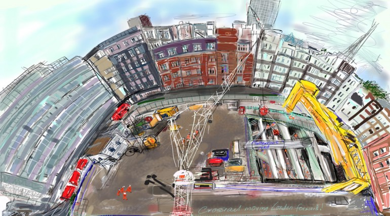 Tottenham Court Road station, Dean street site