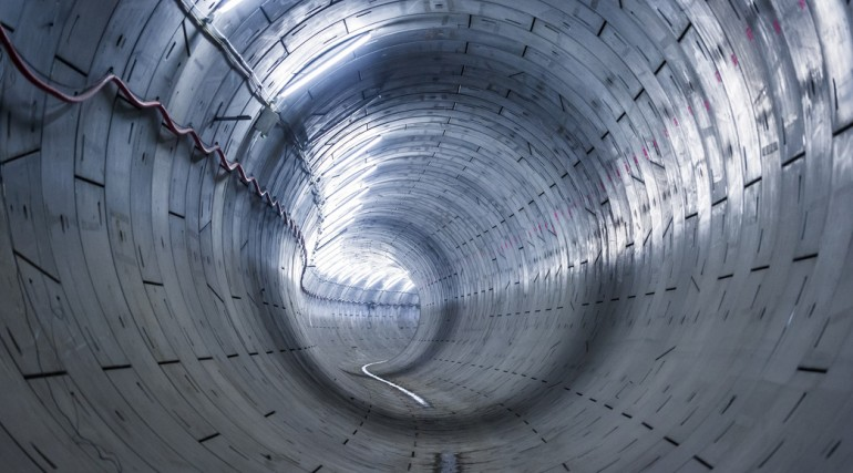 Crossrail running tunnel near Woolwich_127802