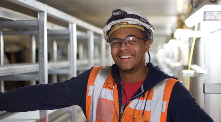 Crossrail's 600th apprentice - Kayne Wilson, Electrical Apprentice_250851