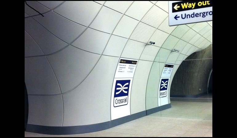Crossrail mock-up platform signage