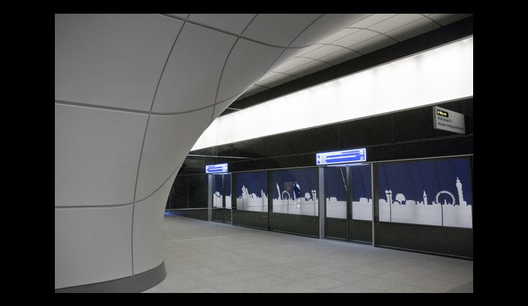 Crossrail mock-up platform entrance