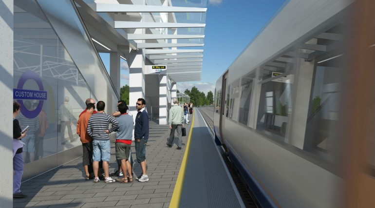 Custom House Station architects impression - Platform F_127367