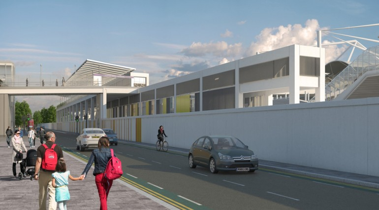 Custom House Station architects impression - Victoria Dock Road East_127362