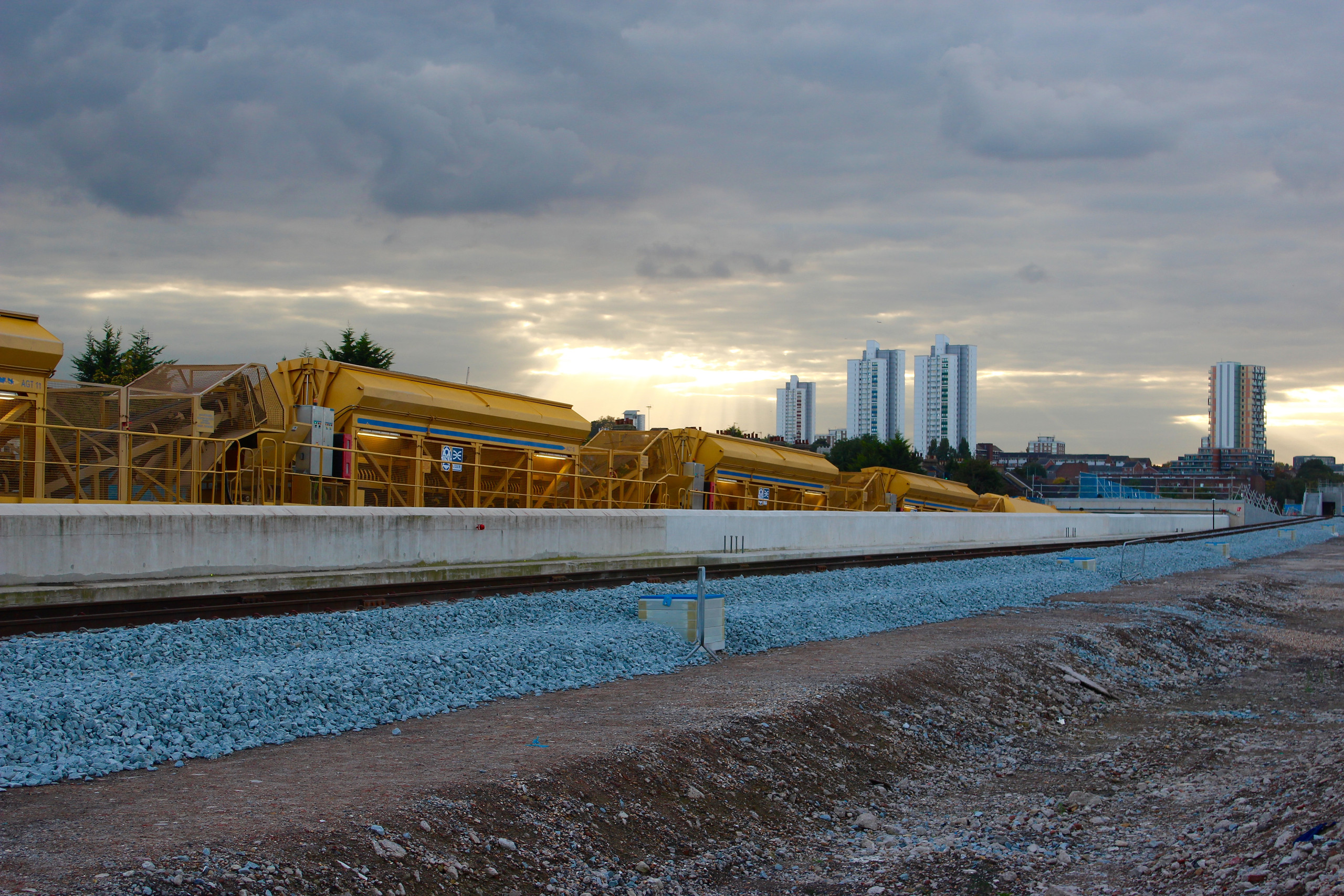 Concreting train begins first journey on Crossrail_210328